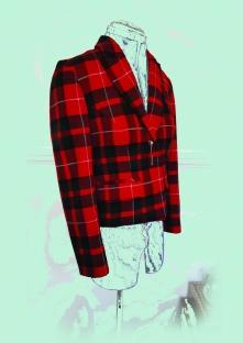 Vegan Tartan Box-Jacket made from cotton suiting SOLD