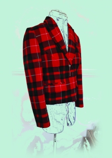 Vegan Tartan Box-Jacket made from cotton suiting SOLD
